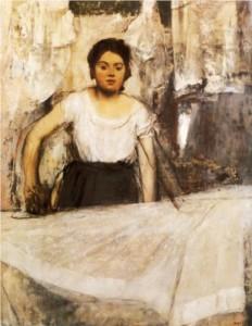 Woman ironing (Munich, Neue Pinakothek)