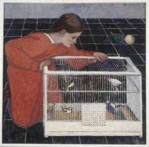 Broncia Koller, Silvia Koller with birdcage