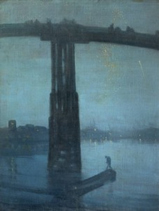 Nocturne: Blue and Gold - Old Battersea Bridge circa 1872-5 by James Abbott McNeill Whistler 1834-1903