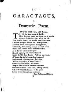 William Mason, 'Caractacus'