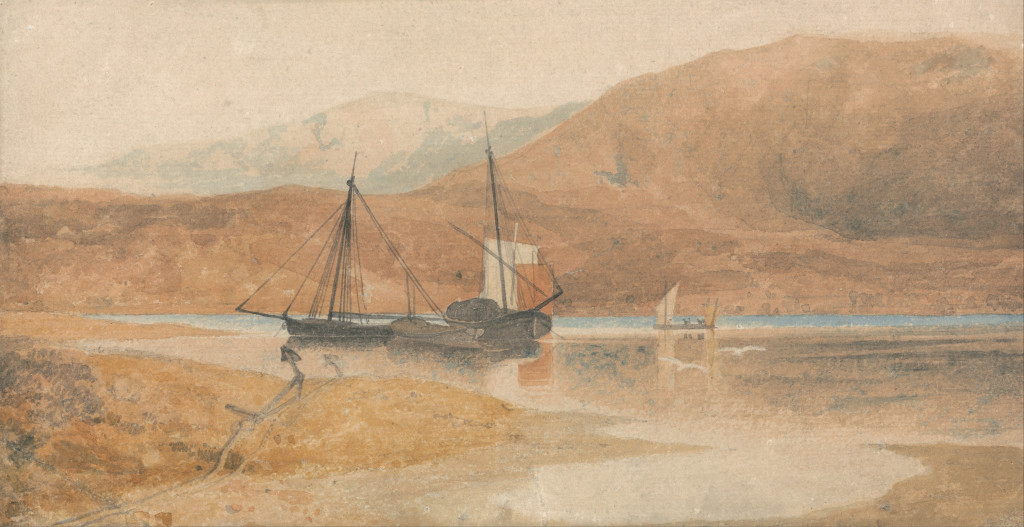 Cotman Barmouth estuary with Cader Idris Yale