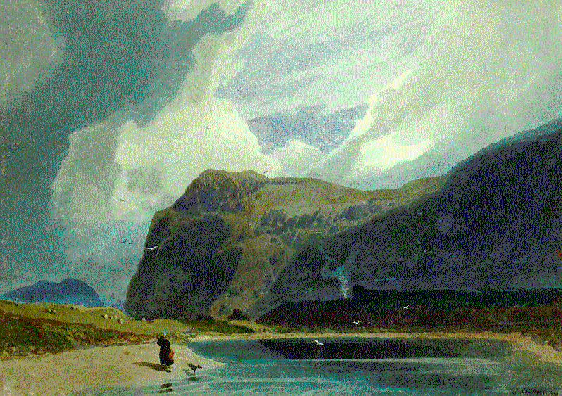 Cotman Mountain scene in Wales