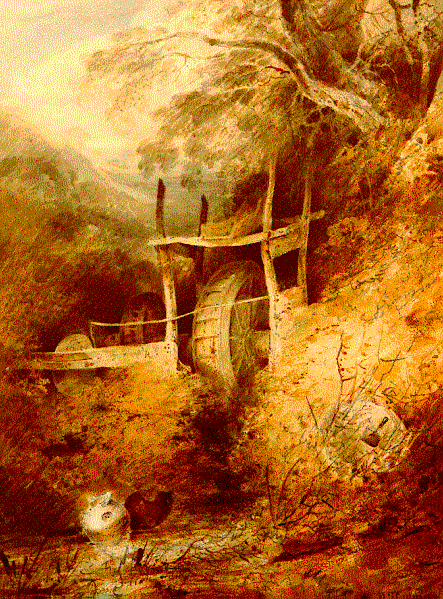 Cotman Water wheel Harlech