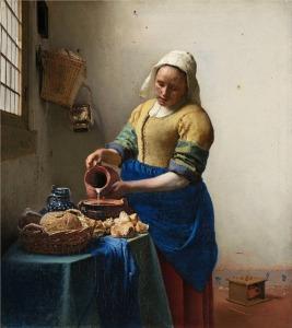 The milkmaid (Johannes Vermeer, c1660)