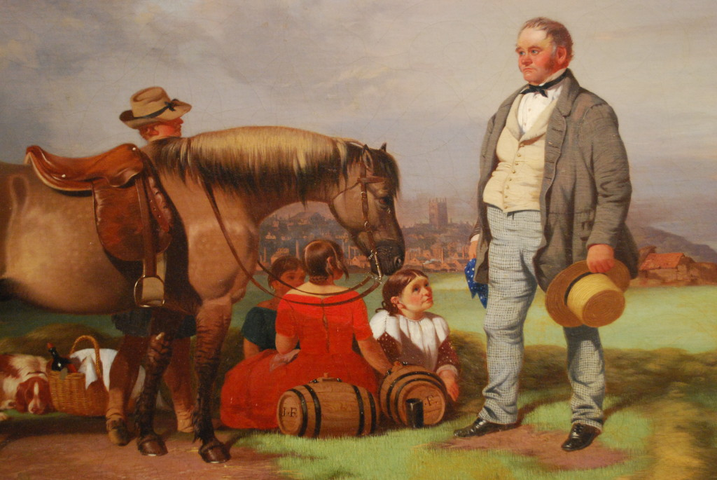 William Malbon, 'Joseph Fenton with his family in the Meadows, Nottingham, 23 August 1840' (1840), detail