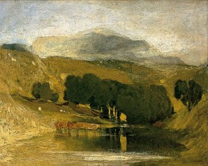 John Sell Cotman, The distant mountain: Cader Idris