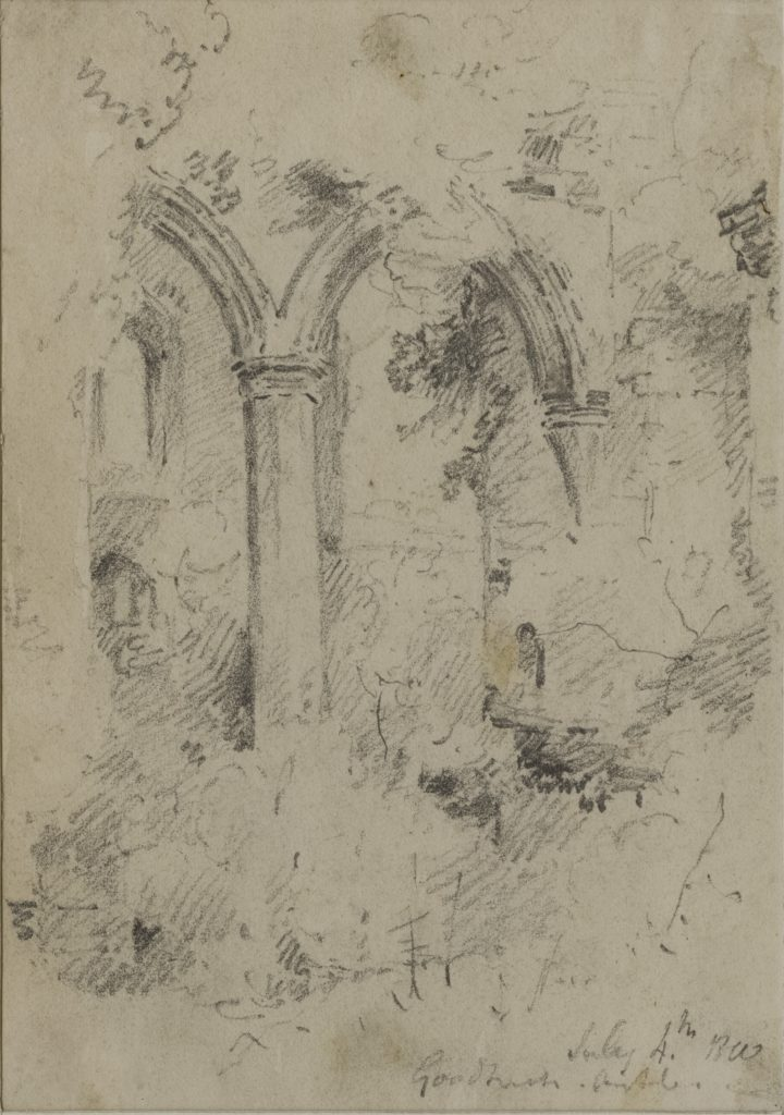 John Sell Cotman, Interior of Goodrich Castle, Arch of the Solar (Leeds)