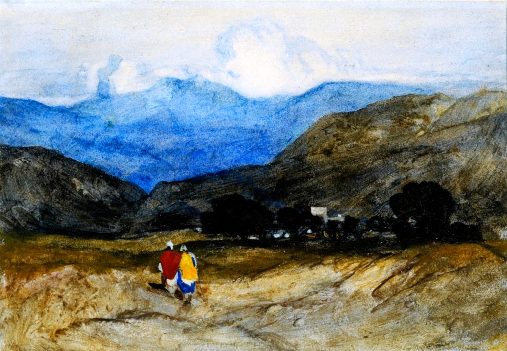 John Sell Cotman, Mountain landscape with figures (Leeds)