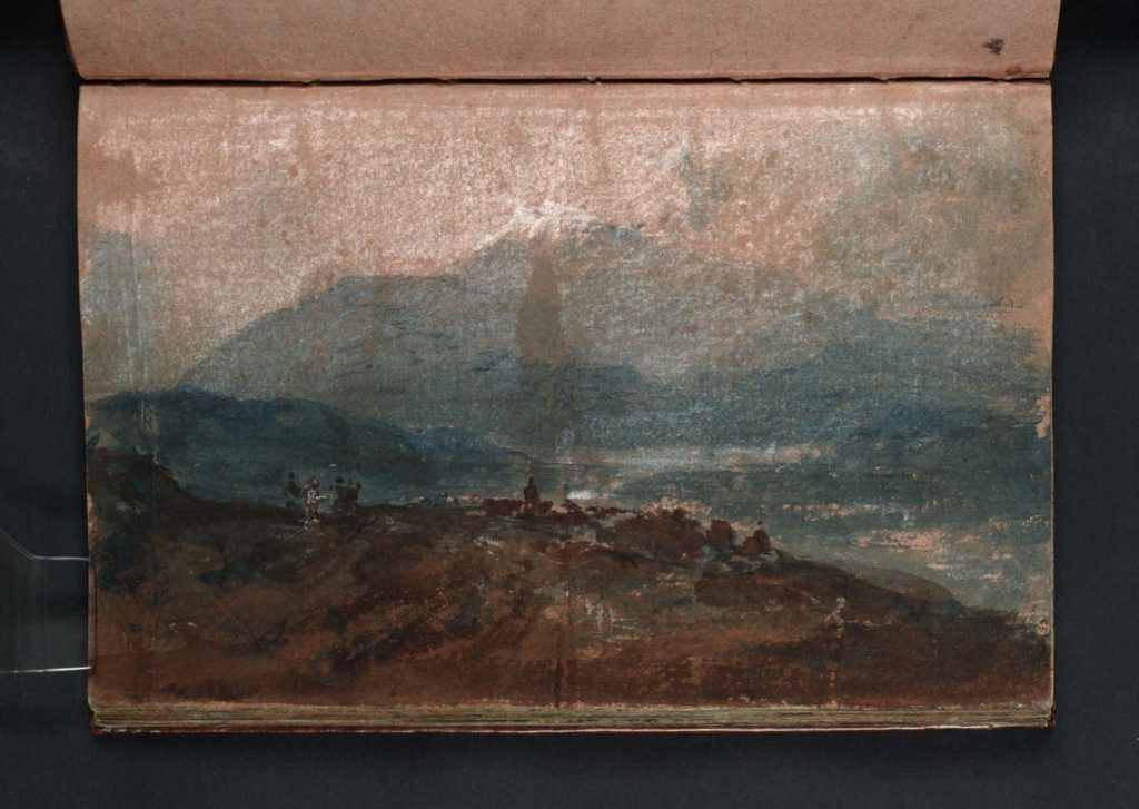 Landscape with a Large mountain (?Cader Idris) c.1798-9 Joseph Mallord William Turner 1775-1851 Accepted by the nation as part of the Turner Bequest 1856 http://www.tate.org.uk/art/work/D01875