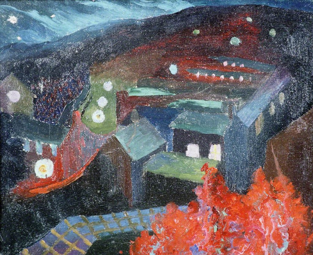 Grainger, Esther; Pontypridd at Night; Llyfrgell Genedlaethol Cymru / The National Library of Wales; http://www.artuk.org/artworks/pontypridd-at-night-120668