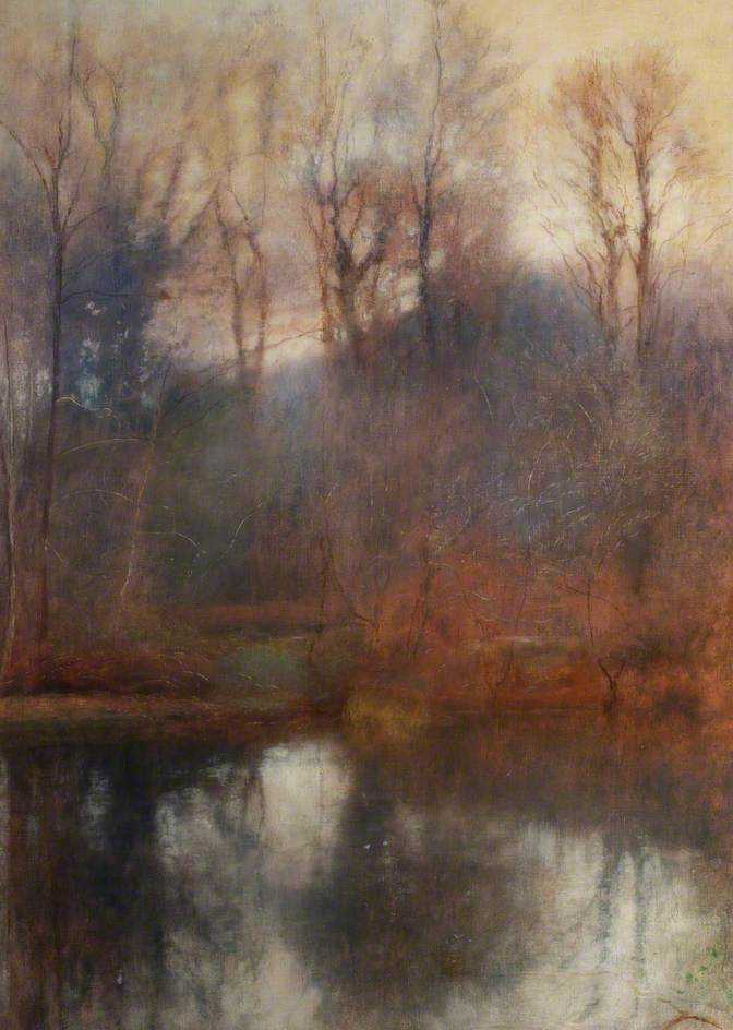 Lewis, Charles William Mansel, Woodland Scene, Stradey Pond; Carmarthenshire Museums Service Collection; http://www.artuk.org/artworks/woodland-scene-stradey-pond-177338